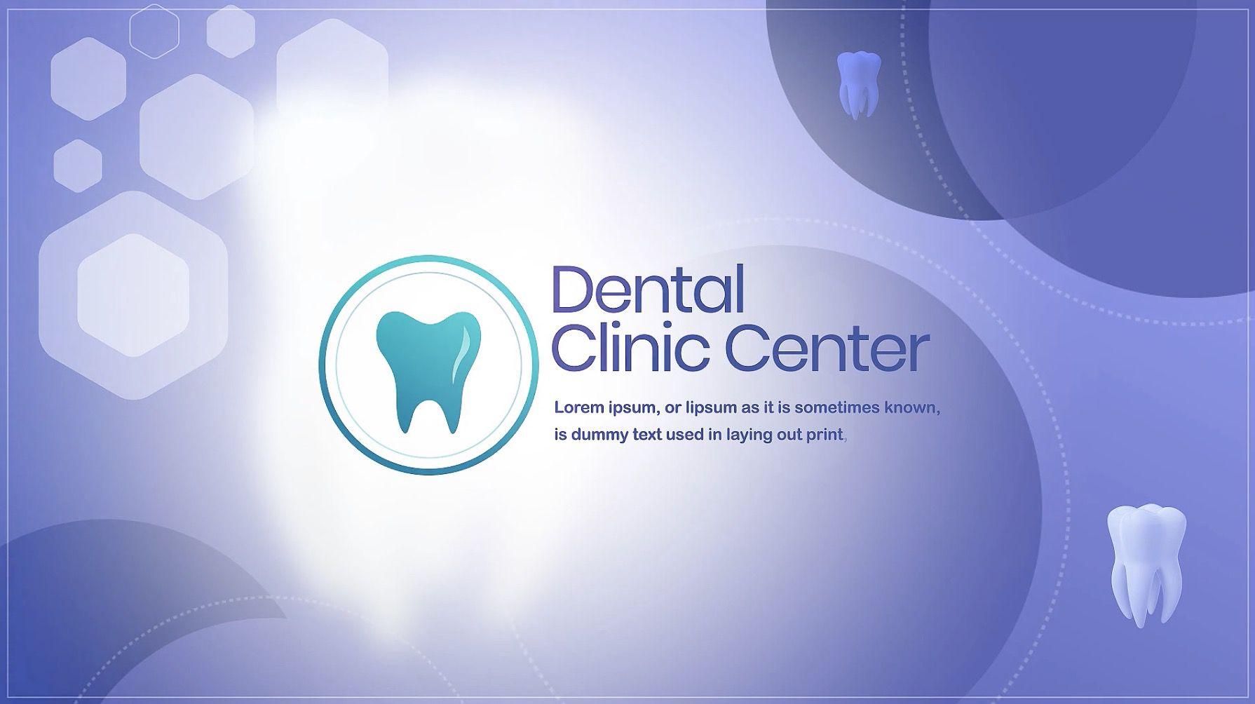 牙科诊所中心幻灯片展示