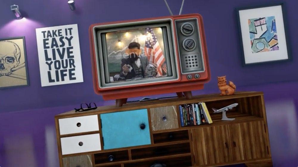 旧电视风格开场动画